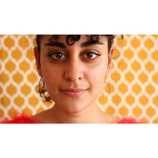 A still captured from our shoot with the beautiful & badass sis @hawadventeur ! @openiiiiiiiii is workin with Hawa to create a short documentary on the process and passion behind Hawa's #Oakland arts residency and installation, MAS#ALLAH, a super dope and important move to create space to reflect and interact with Middle Eastern x American experience & community. #voice #bts #still #portrait #mashallah #veuxdochildfilms #film #documentary