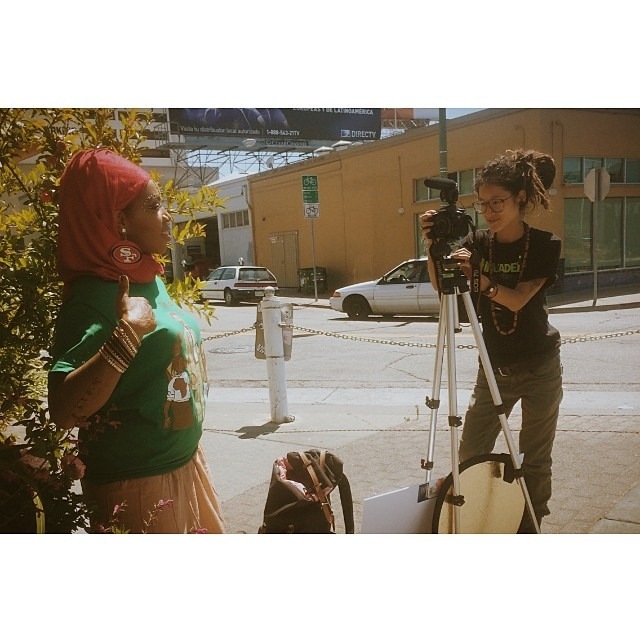 @openiiiiiiiii on set! #bts shooting for BarakaBlue's upcoming video for his new joint #LoveAndLight #ameen #peacepeacepeace #powerpowerpower #bts #filmlife